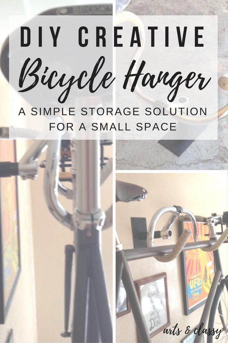DIY Creative Bicycle Hanger Simple Storage Solution