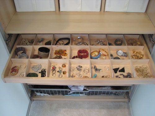 Love LOVE this idea for storage for my jewelry, i'd have like five of these drawers stacked and keep shades and ear rings and scarves in it