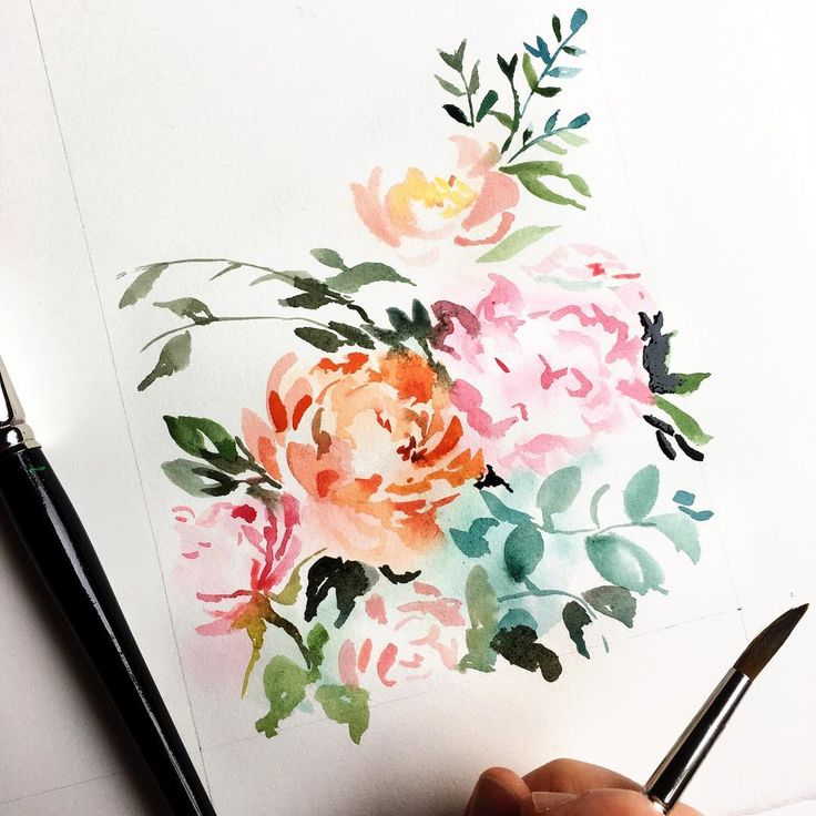 Abstract Floral, by Lemontree Calligraphy & Illustration, #lemontreecalligraphy