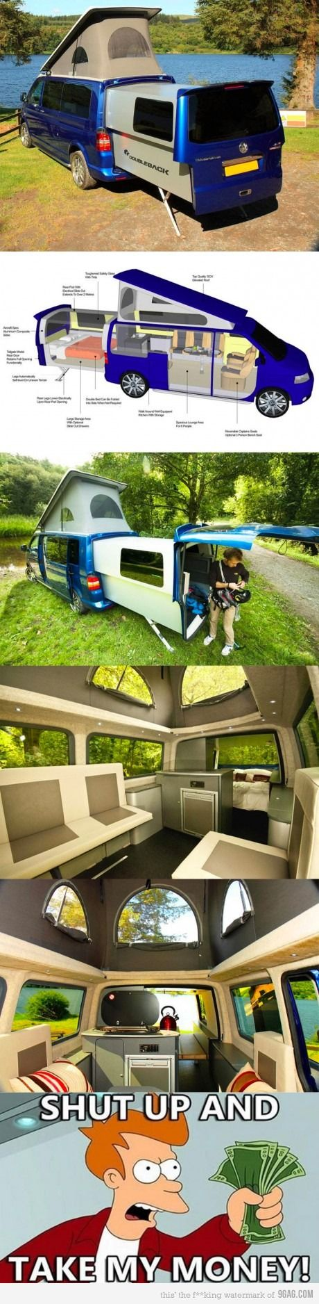 This would be fantastic for a quick get away from it all. . . an epic want.