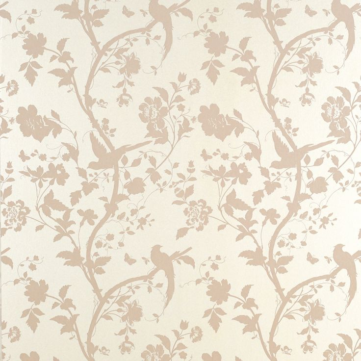 Oriental Garden Chalk Pink Floral Wallpaper Laura Ashley