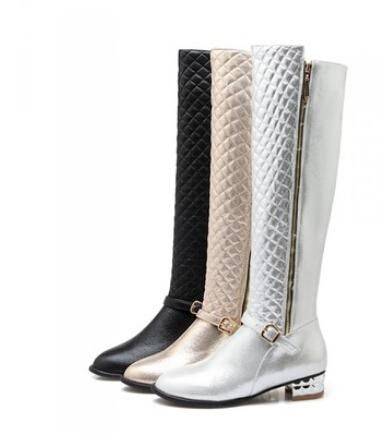 These Ice Buckle Are Stunning On You & Will Enhance Any Outfit. Get The Special Offer Available On Site http://celebrityshoes4u.com/products/new-womens-fashion-high-leg-thick-heel-boots-glitter-buckle-low-heel-winter-thickening-fur-crystal-plus-big-size-40-44-43?utm_campaign=social_autopilot&utm_source=pin&utm_medium=pin