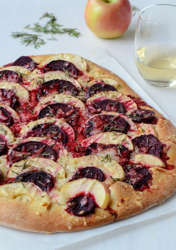 Thinly sliced beets, apples and sharp cheddar cheese create a sweet and savory homemade pizza that's beautiful, healthy and delicious. Show off your cooking skills with this unique recipe at your next family dinner!
