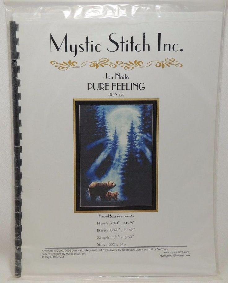 Pure Feeling Cross Stitch Pattern Chart JON-04 Mystic Stitch Bears Moon #MysticStitchInc #Frame