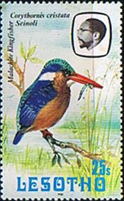 Lesotho 1981 Birds SG 444 Malachite Kingfisher Fine Mint SG 444 Scott 328 Other Bird Stamps Heres