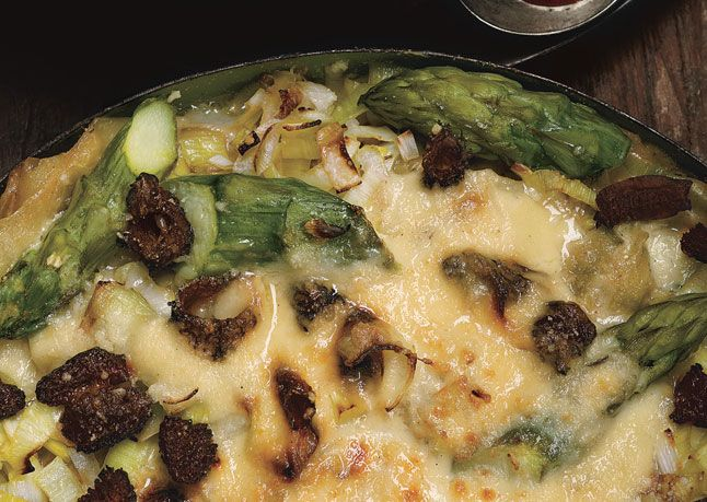 Lasagna With Asparagus Leeks And Morels Bon Appetit Recipes Leeks Morel Recipes Asparagus mushroom leek spring pasta