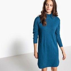 dd00eed908fe Vestido-camisola, gola alta, caxemira La Redoute Collections - Vestidos  Vestidos tamanhos grandes