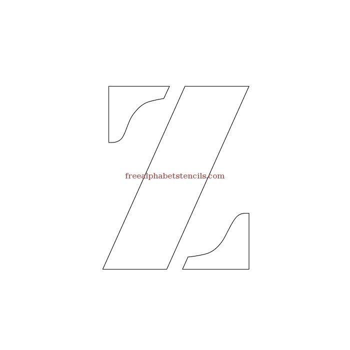 Uppercase Alphabet Stencil Z