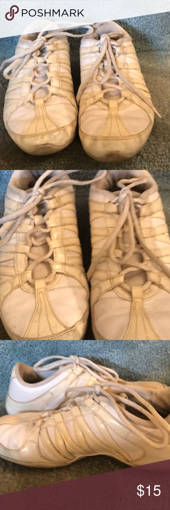 WOMENS PANTENT LEATHER NIKE GYMSHOES These gently loved it Nike paten leather and white leather gym shoes are lots of fun. They were used for cheerleading but can be worn for just about anything as they are all purpose gym shoes Nike Shoes Sneakers