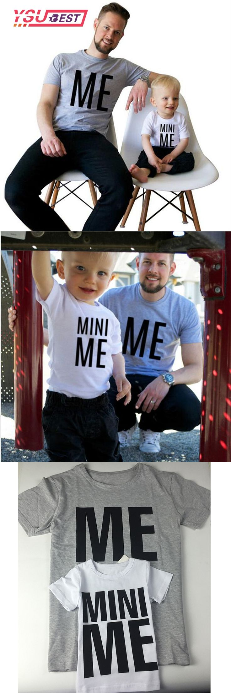 New Arrival Family Look Summer ME and MINI ME Pattern Family T-shirt Father and Son Clothes 2017 Letter Family Matching Outfits