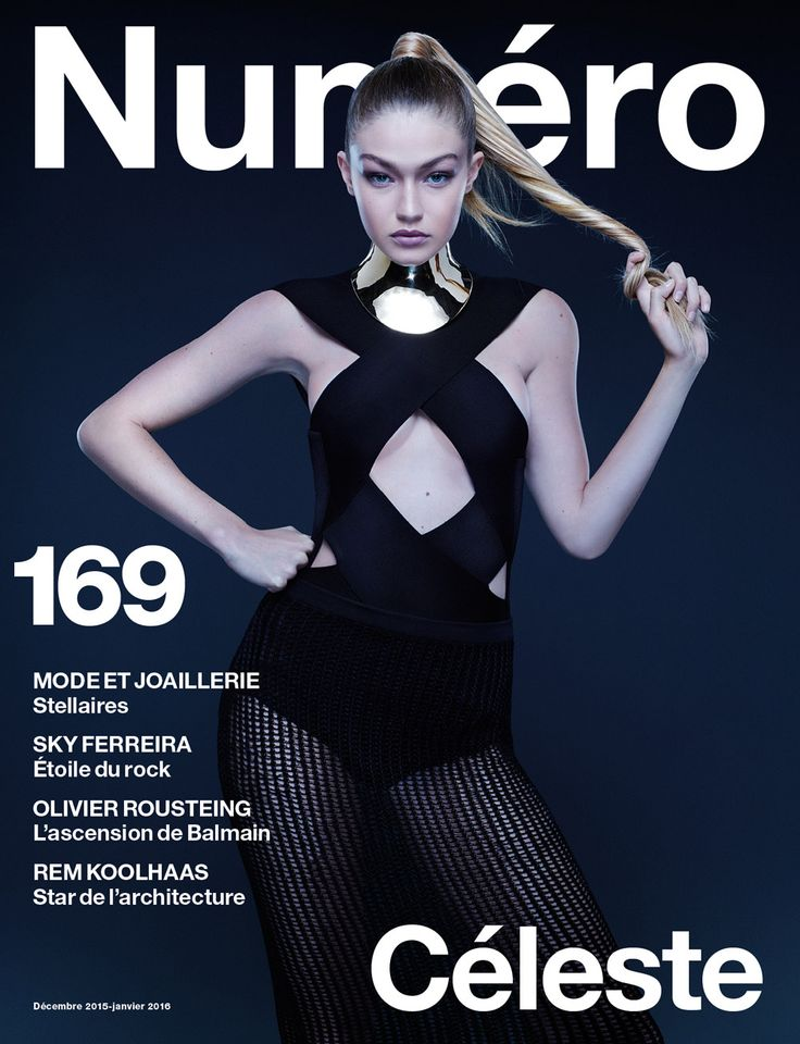 Cover Story: Gigi Hadid photographiée par Jean-Baptiste Mondino en Balmain | Numéro Magazine