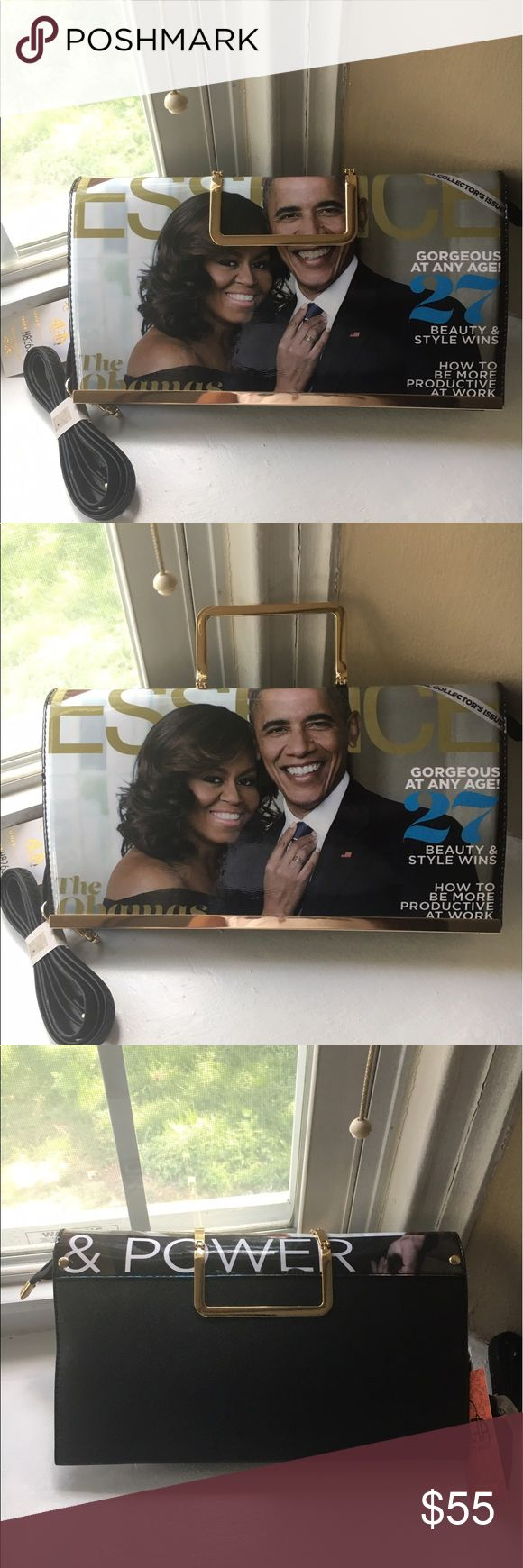 New  Obama handbag 👜 special edition A collectible great picture of  Mr Obama and Mrs Obama on the magazine cover Essence brass adjustable handle. Long shoulder strap. A must have only two left this will not be around long Bags Crossbody Bags