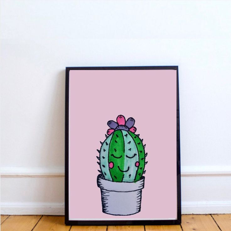 Everybody needs a cactus in their house. This cute cactus is what you need. Find this and other prints at www.lumisadesign.nl