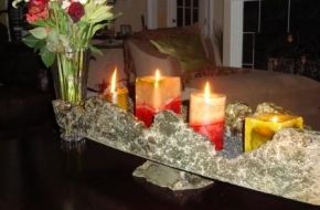 Concrete candle holderConcrete Bowls, Candle Holders, Candles Holders, Concrete Candles