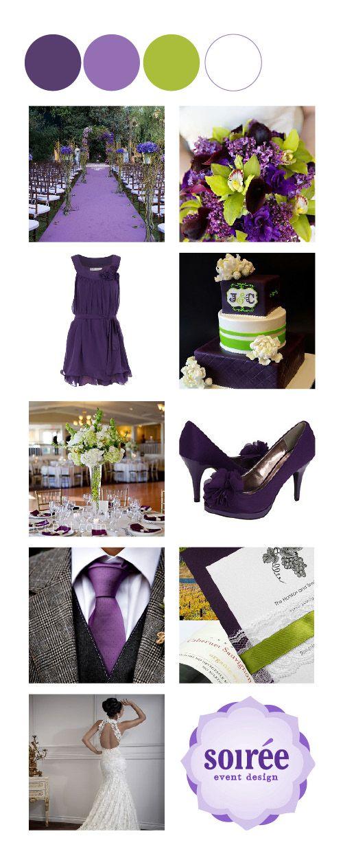 17 best images about wedding purple green on pinterest. Black Bedroom Furniture Sets. Home Design Ideas