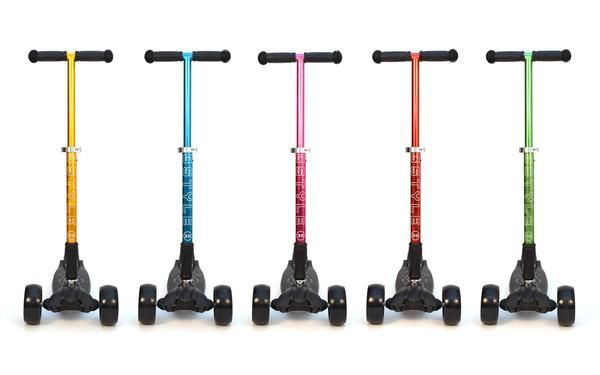 The full colour range of 3Style Scooters RGS-3 series kick scooters.