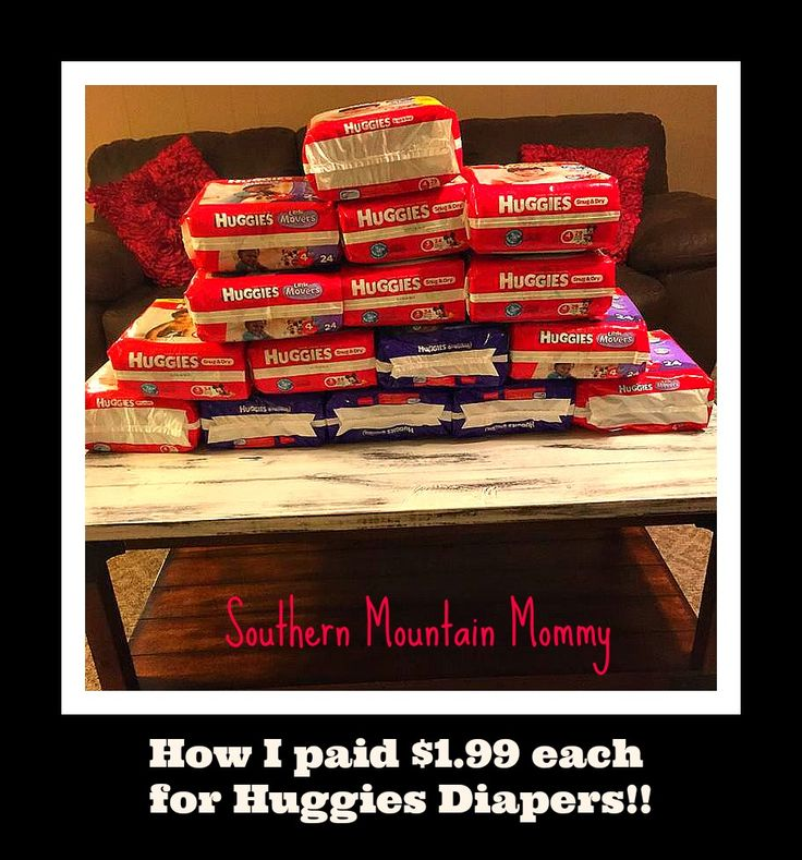 Stock up on diapers before baby gets here!!! http://www.southernmountainmommy.com/how-i-got-huggies-diapers-for-1-99-each/