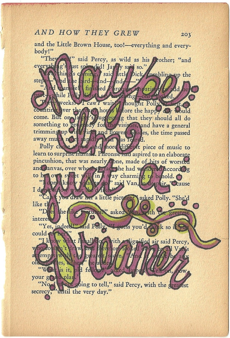 maybe im just a dreamer beatles lyric quote on vintage