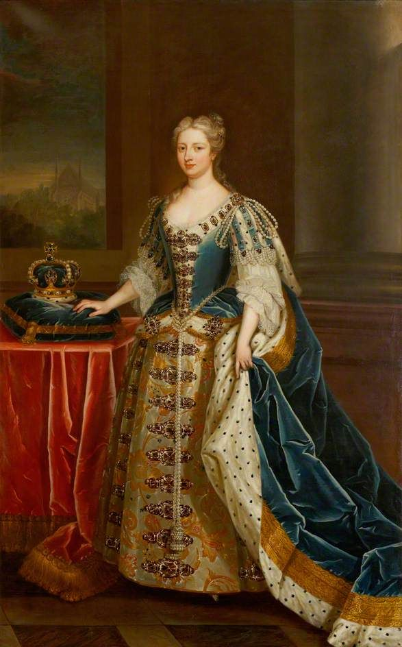 Caroline of Brandenburg-Anspach (1683–1737), Queen Consort of King George II  (after Charles Jervas)  by Enoch Seeman the younger