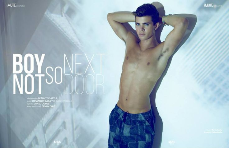 Boy not so next door Editorial - iMute Magazine Fall Issue #8 2014 Photographer | Kenny Whittle Photography Model | Brandon Bailey @ ADAM Models Stylist | Jonzu Jones Make up & Hair | Jenny Diaz
