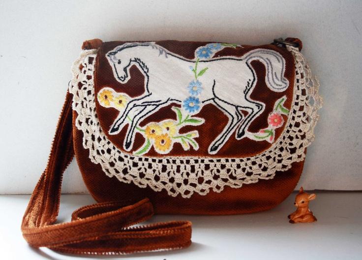 Mia gorgeous horse bag by ObeliaDesign on Etsy