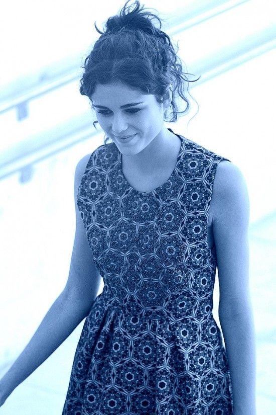 Sandra Martín in KALOS dress