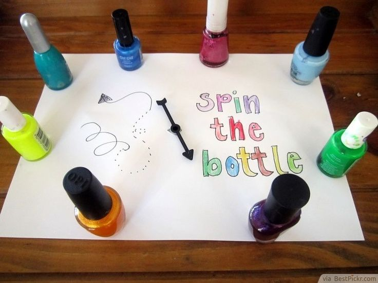 Slumber Party Game: Spin The Bottle With Nail Paints ❥❥❥ http://bestpickr.com/slumber-party-ideas