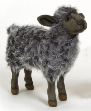 "cute!  Sheep Plush Stuffed Animal, 16"" HANSA (Black Mama Sheep)"