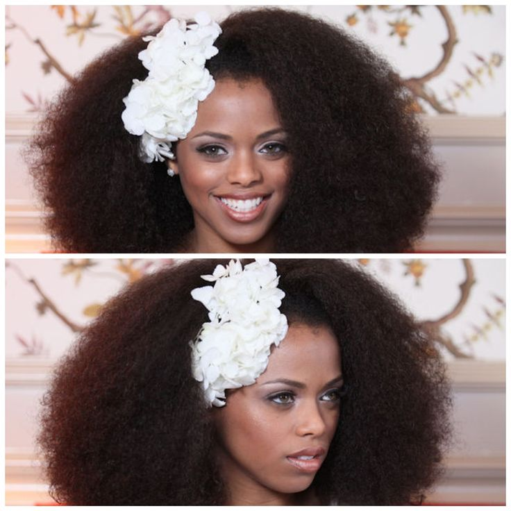 natural  Afro-Caribbean wedding hairstyles