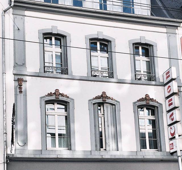 That white blue facade 💙 . .  basel travel mytinyatlas facade architecture pastel