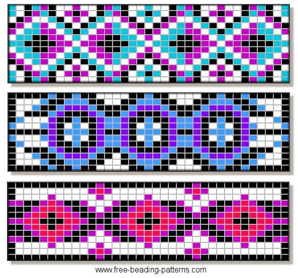 beading-pattern-barrettes-e.gif 593×554 pixels