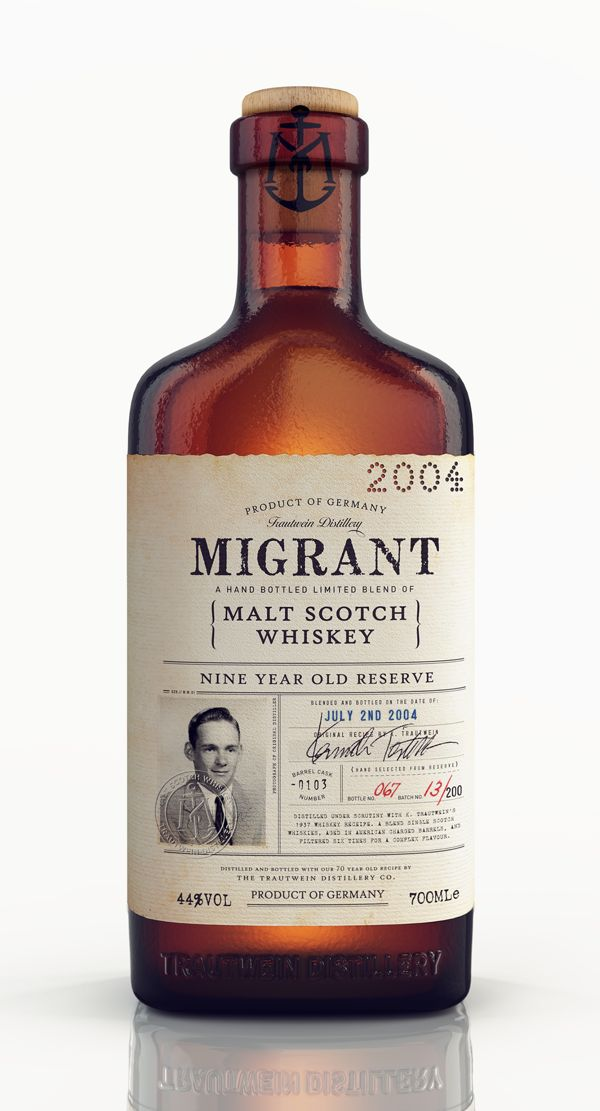 Migrant Whiskey on Packaging Design Served