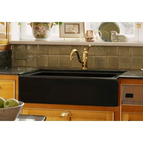 Corstone Industries Advantage Primrose Black Apron Front Single Bowl  Kitchen Sink
