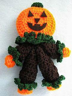 Mr. Pumpkin Man Rattle Free Crochet Pattern