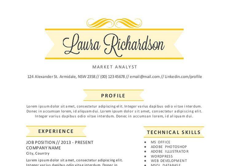 2 in 1 stylish banner word resume wordbannerstylish