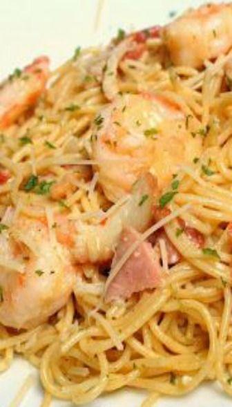 Shrimp Carbonara | new recipe ideas (Lord knows I need them) | Pinter ...