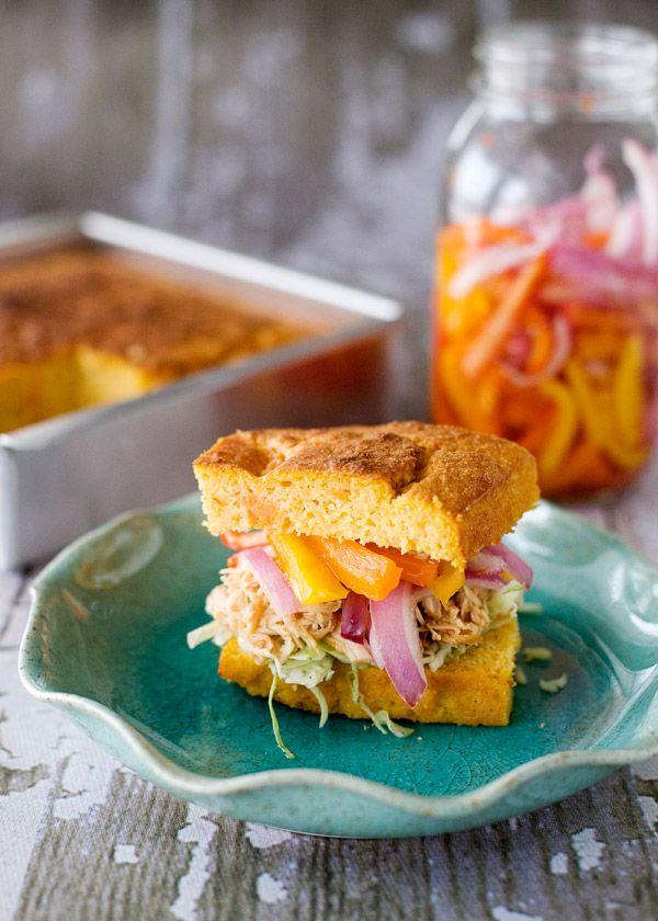 Slow Cooker BBQ Chicken Sandwiches: Crock Pot, Pickled Peppers, Chicken Sandwiches Recipes, Slow Cooker Chicken, Slow Cooker Recipes, Bbq Chicken, Cooker Bbq, Slower Cooker, Baking Bree