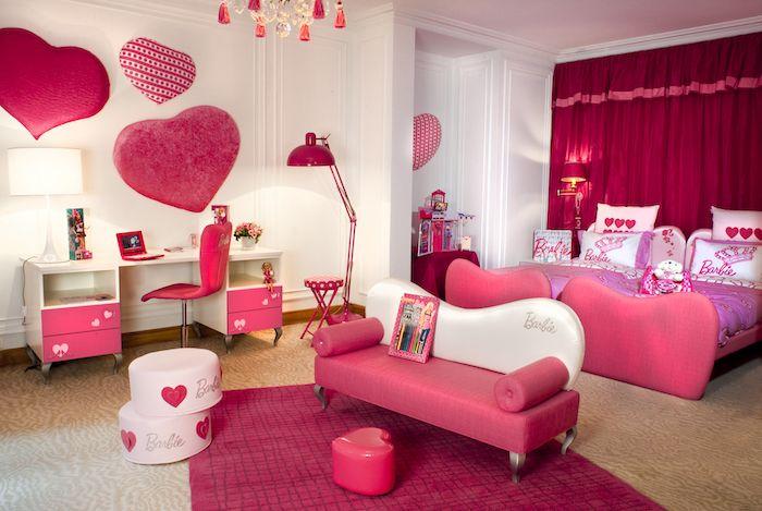 Jugendzimmer Komplett Mit Liebe Einrichten Herzchen Deko Ideen Nuancen Der Farbe Rosa Barbie Stil Barbie Style Barbie Zimmer Madchenzimmer Barbie Schlafzimmer