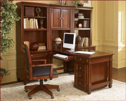 Warm Cherry Executive Desk Home Office Collection: 1000+ Ideas About Modular Home Office Furniture On