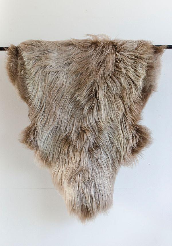 caramel toned sheepsinks, shop news via HEIMELIG blog #fur