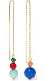 Candy gold-plated multi-stone earrings
