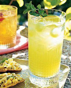 Honeydew Mojitos with Melon Balls & Mint