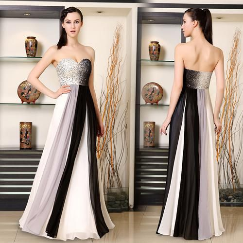 Long Evening Prom Dress 2017 New Fashion Strapless Sequined Bust Ombre Las Sparkly Dresses