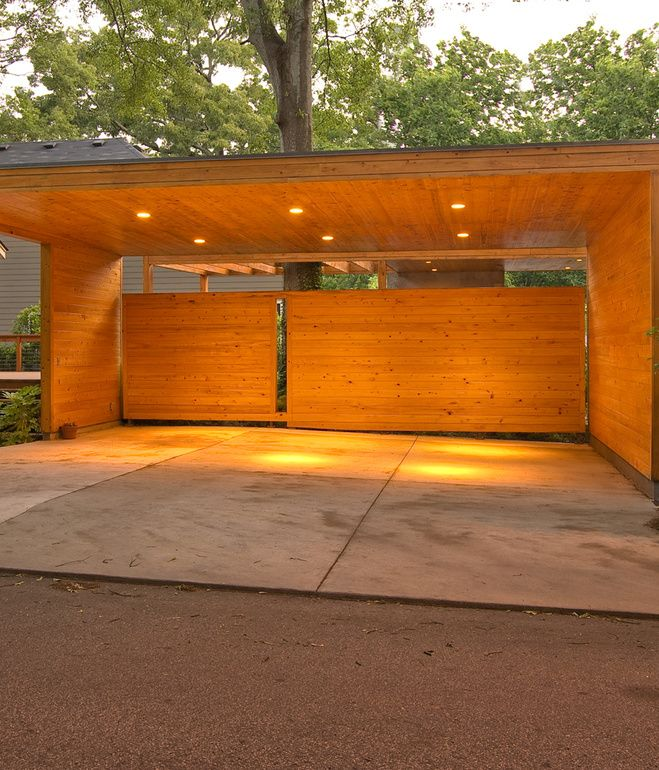 Contemporary picnic shelter google search agrarian for Garage with carport plans