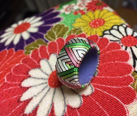 変形斜交/6h #刺繍 #thimble #madeinjapan #針仕事 #加賀指ぬき #手芸 #加賀指貫#japan #handmade