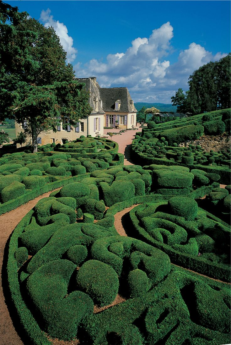"Château de Marqueyssac ~ ""a 17th-century château and gardens located at Vézac,"" in southwestern France"