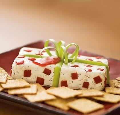 Queso Crema con Hiervas y Pimientos, receta de Linda Brockmann