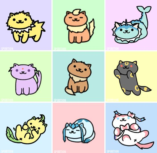 Eeveelutions as Neko Atsume kitties #NoelitoFlow . Repin & Like and follow… …