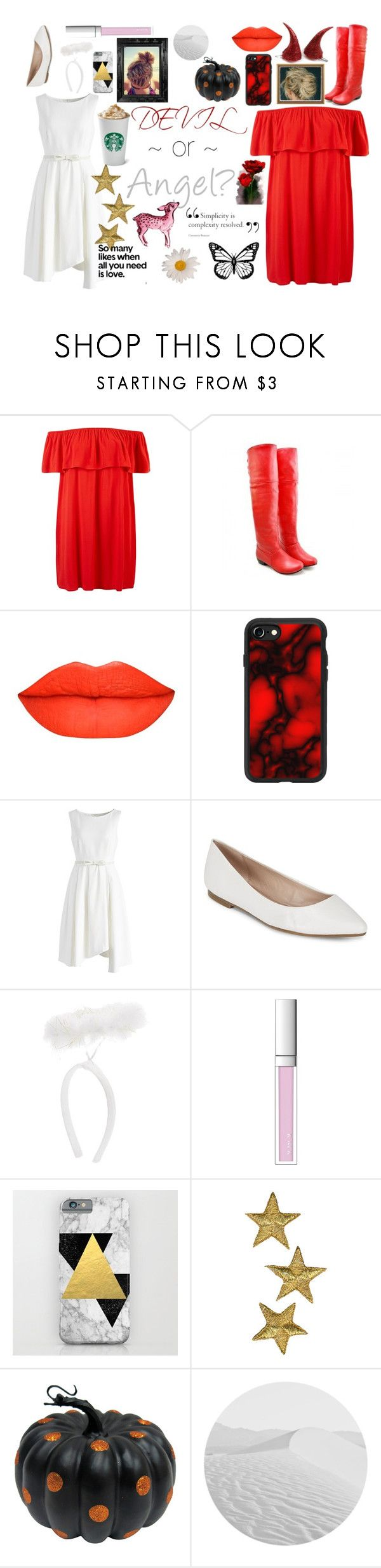 """Devil or Angel?"" by fawnspot ❤ liked on Polyvore featuring Casetify, Chicwish, BCBGeneration, RMK and Linda Horn"