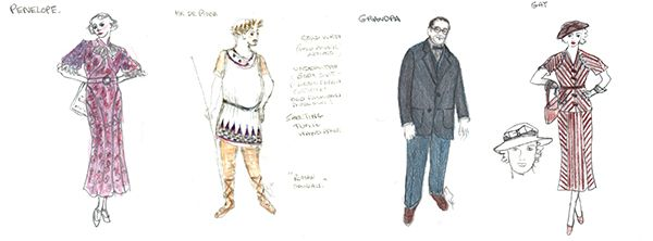 You Can't Take It With You (Penelope, Mr. DePinna, Grandpa and Gay Wellington. Costumes designed by Jane Greenwood.